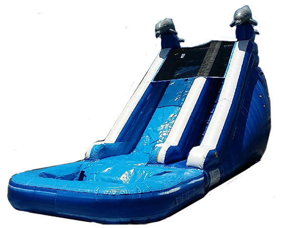 18ft Deep Blue Dive Mega Water Slide (Wet)