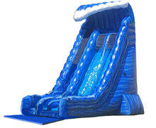 27ft Blue Crush Double Lane Gigantic Slide (Dry)