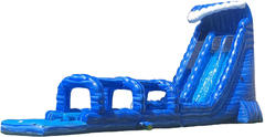 27ft Blue Crush Double Lane Waterslide People Eater