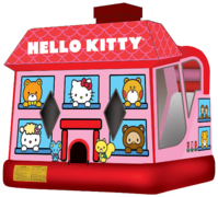 Hello Kitty Combo Bounce House (Wet)