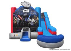 Star Wars Combo Bounce House (Wet)