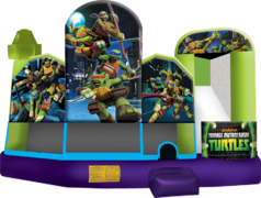 TMNT Combo Bounce House Water Slide (Wet)