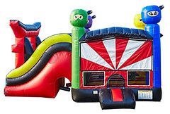 Ninja Bounce House and Slide 6 in 1 Fortress (Dry)