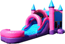 Princess Mega Bounce & Water Slide Palace Castle (Wet)