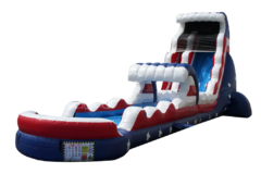 18ft Patriot Waterslide and Hero Run(Wet)
