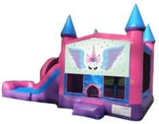 Unicorn Mega Bounce & Slide Palace Castle (Dry)