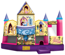Disney Princess 5 in 1 Combo Bounce House (Wet)