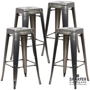 High Top Gunmetal Bar Stool