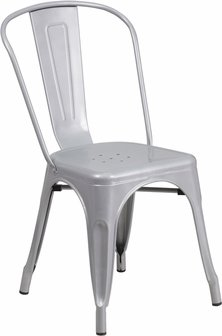 Gunmetal Silver Bistro Chair