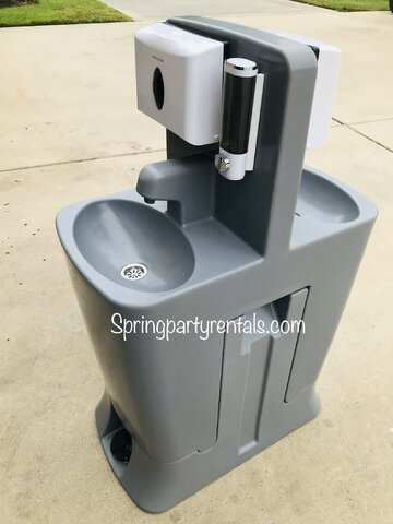 Dual Sink Hand Washing Station