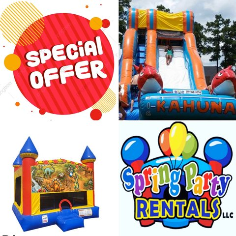 Water Slide and Bounce House Party Package