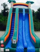 Dual Lane Tropical Rush Dry Slide