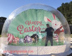 Giant Easter Human Snow Globe