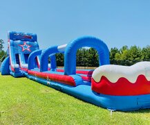The 60ft Patriot Dual Lane Water Slide