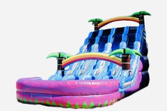 Triple Lane Splash Water Slide