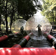 Human Zorb Balls with Track