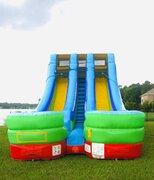 Retro Double Lane Water Slide