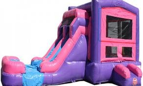 Pink Dual Lane Dry Fun House Combo Bouncer
