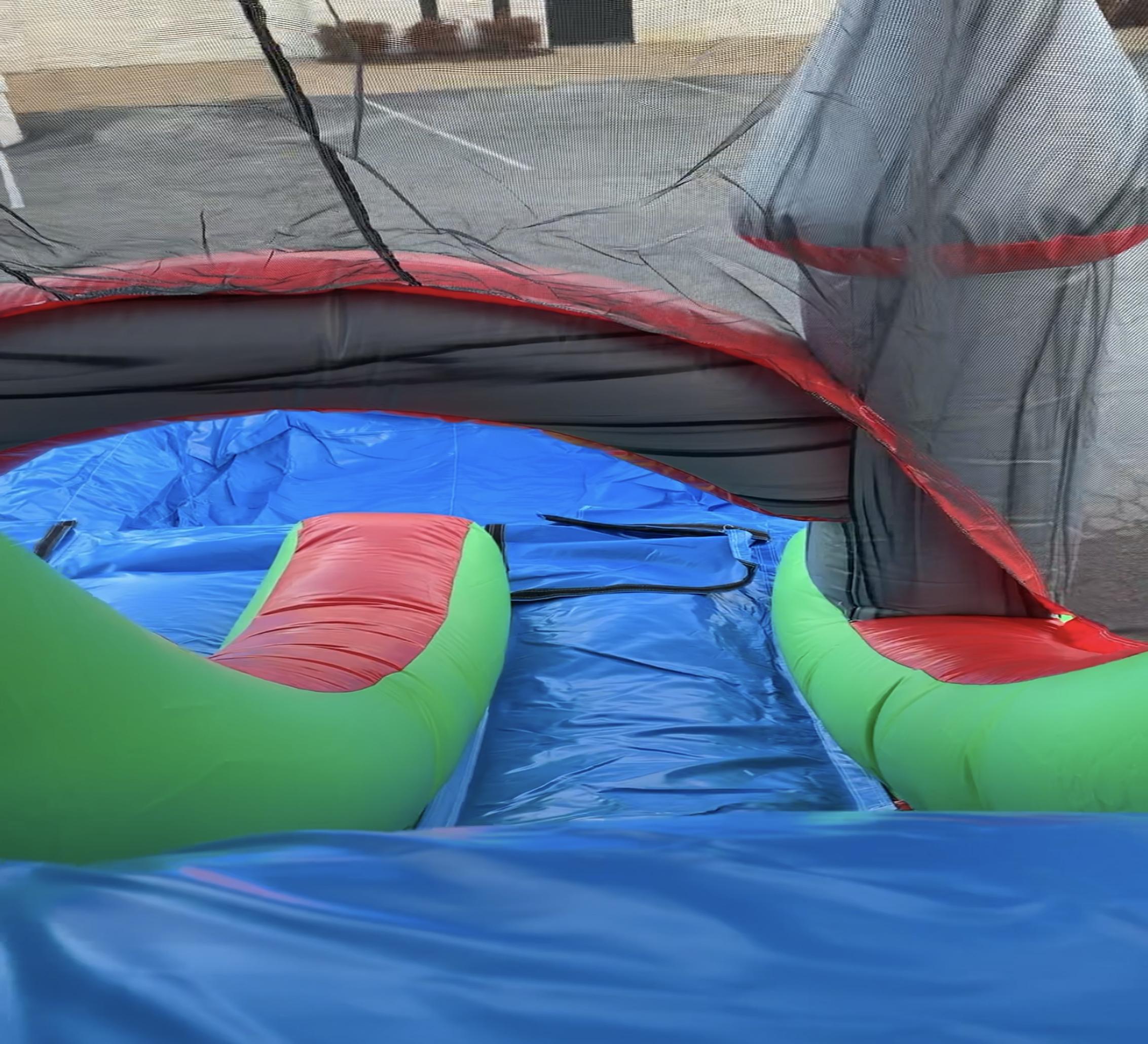 dual lane combo inflatable rental near me