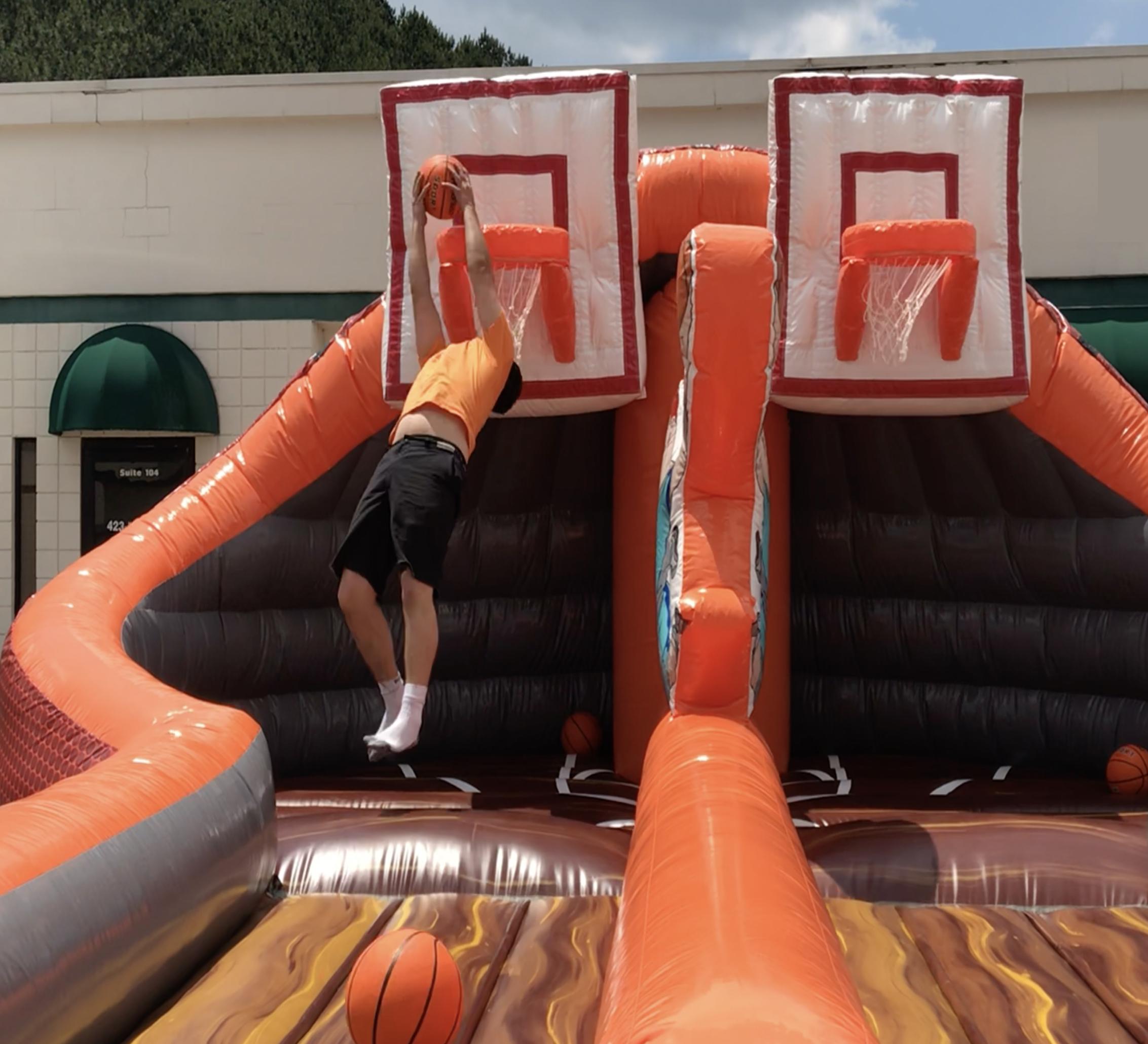 inflatable basketball rental