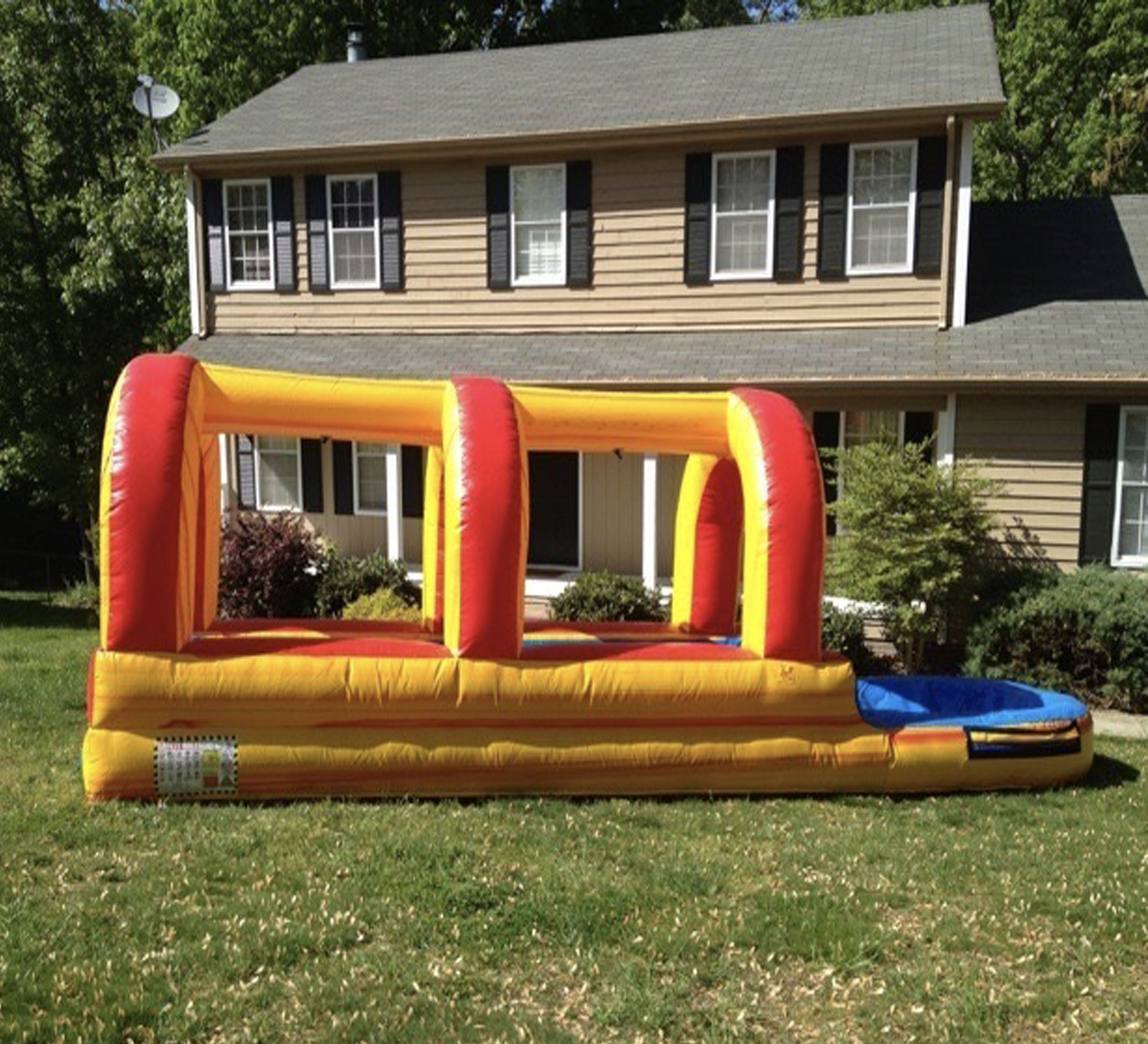 inflatable slip n dip rental