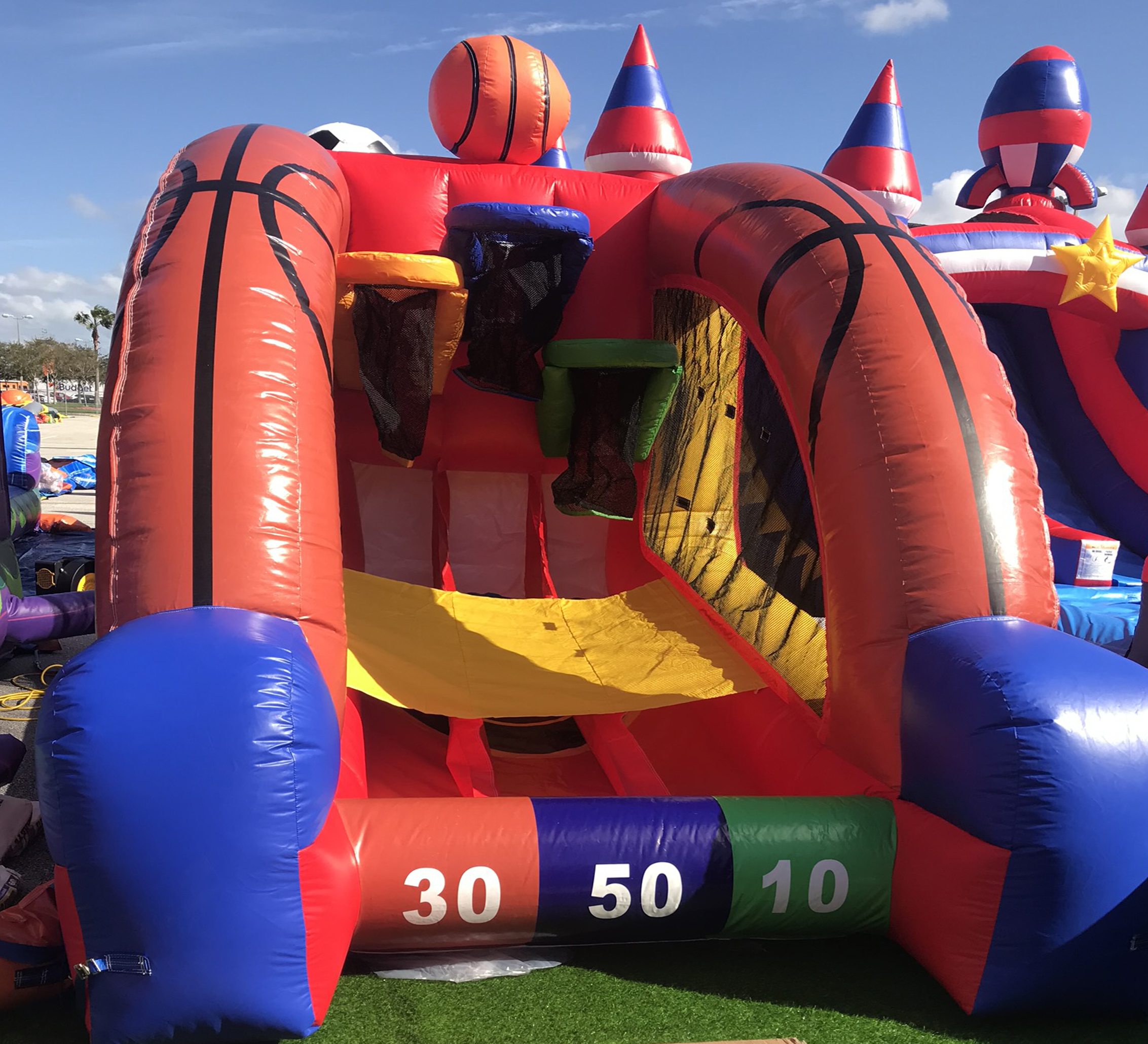 basketball inflatable game rental near me