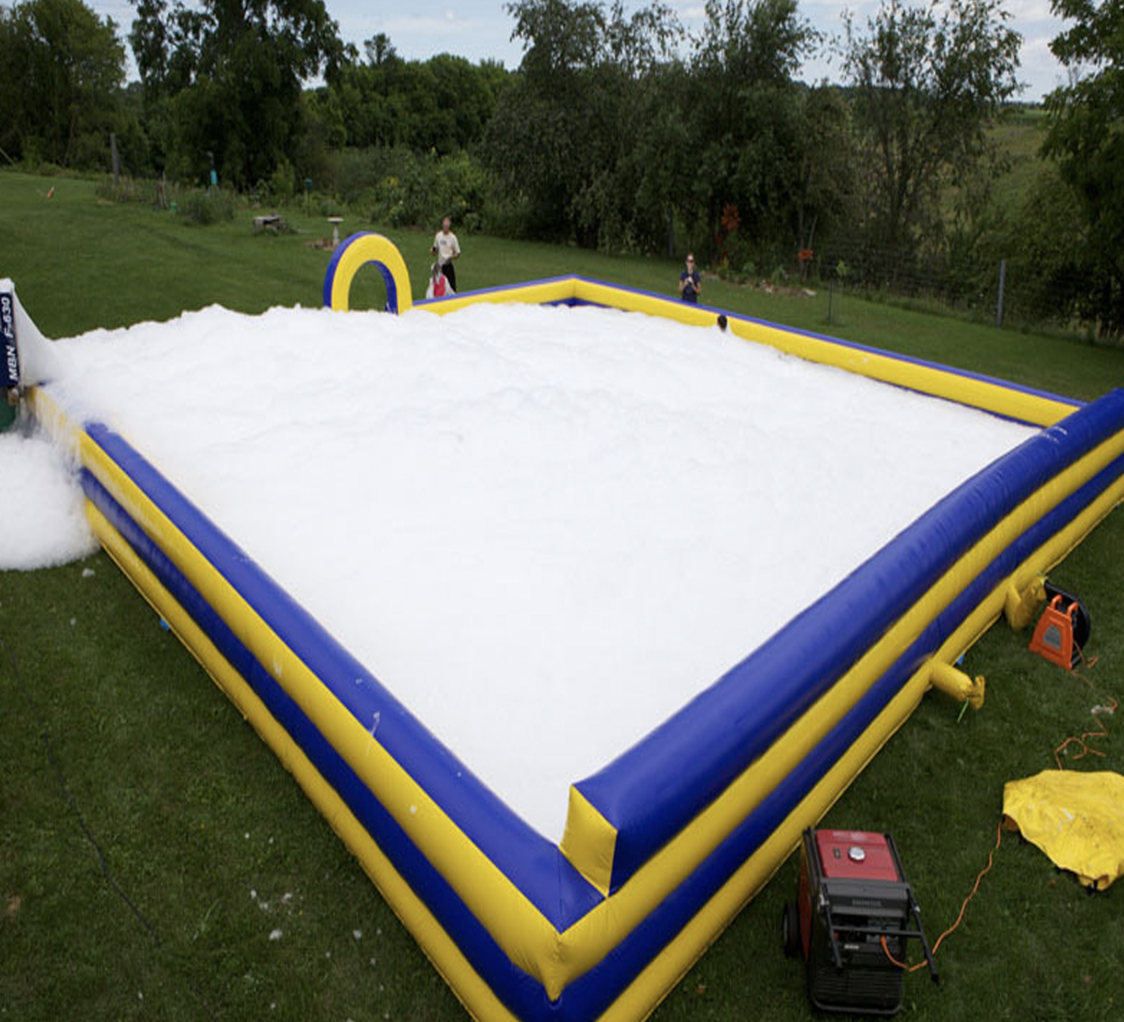 inflatable foam party