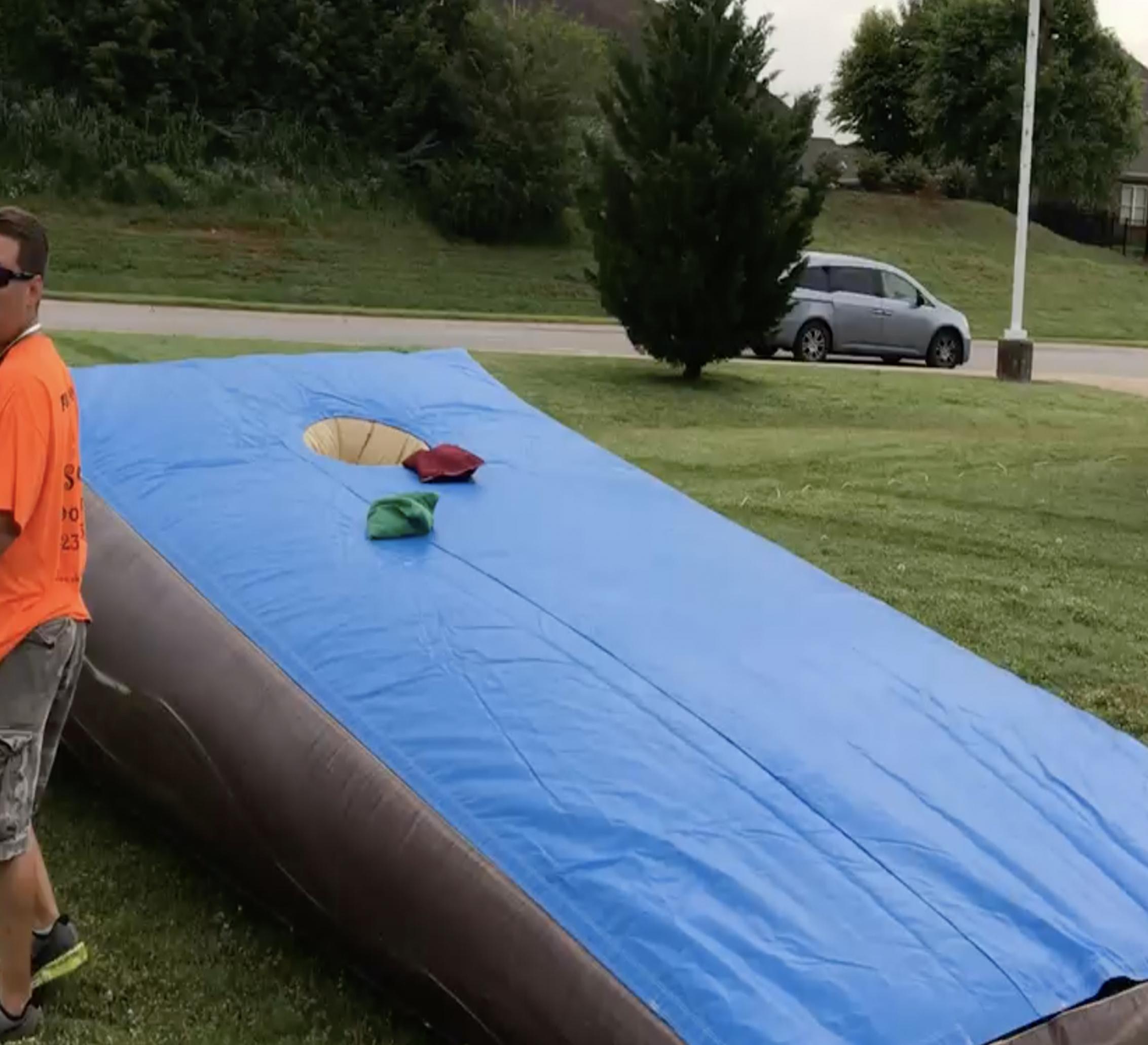 inflatable corn hole rental near me