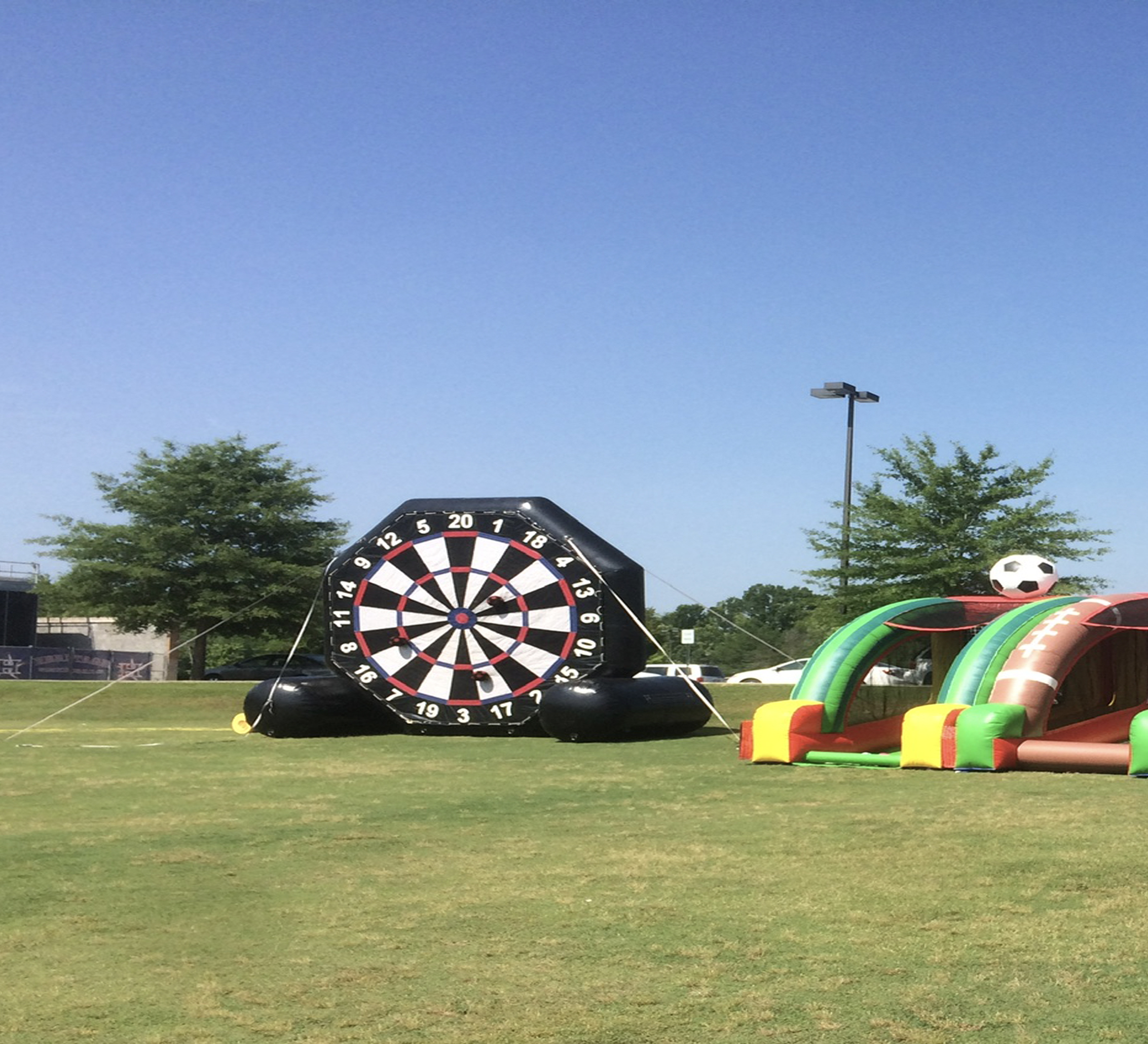 soccer inflatable game rental