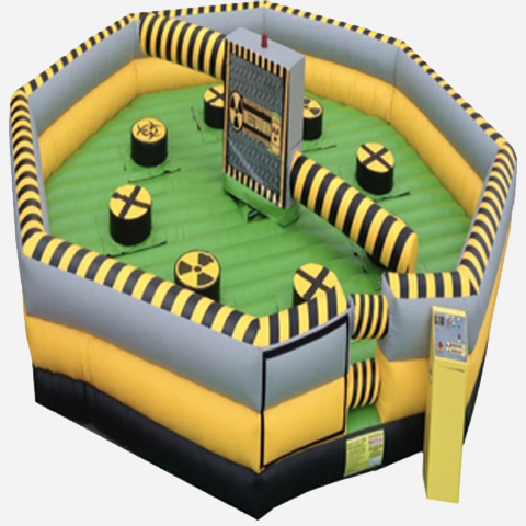 toxic meltdown inflatable rental
