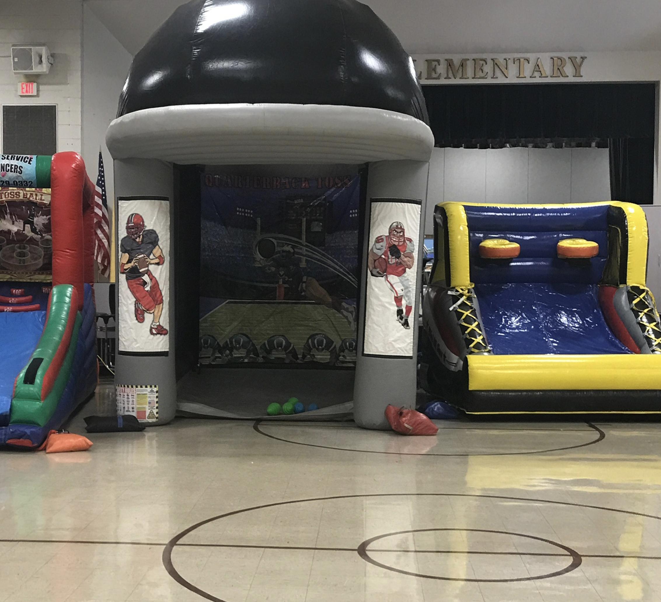 football inflatable rental