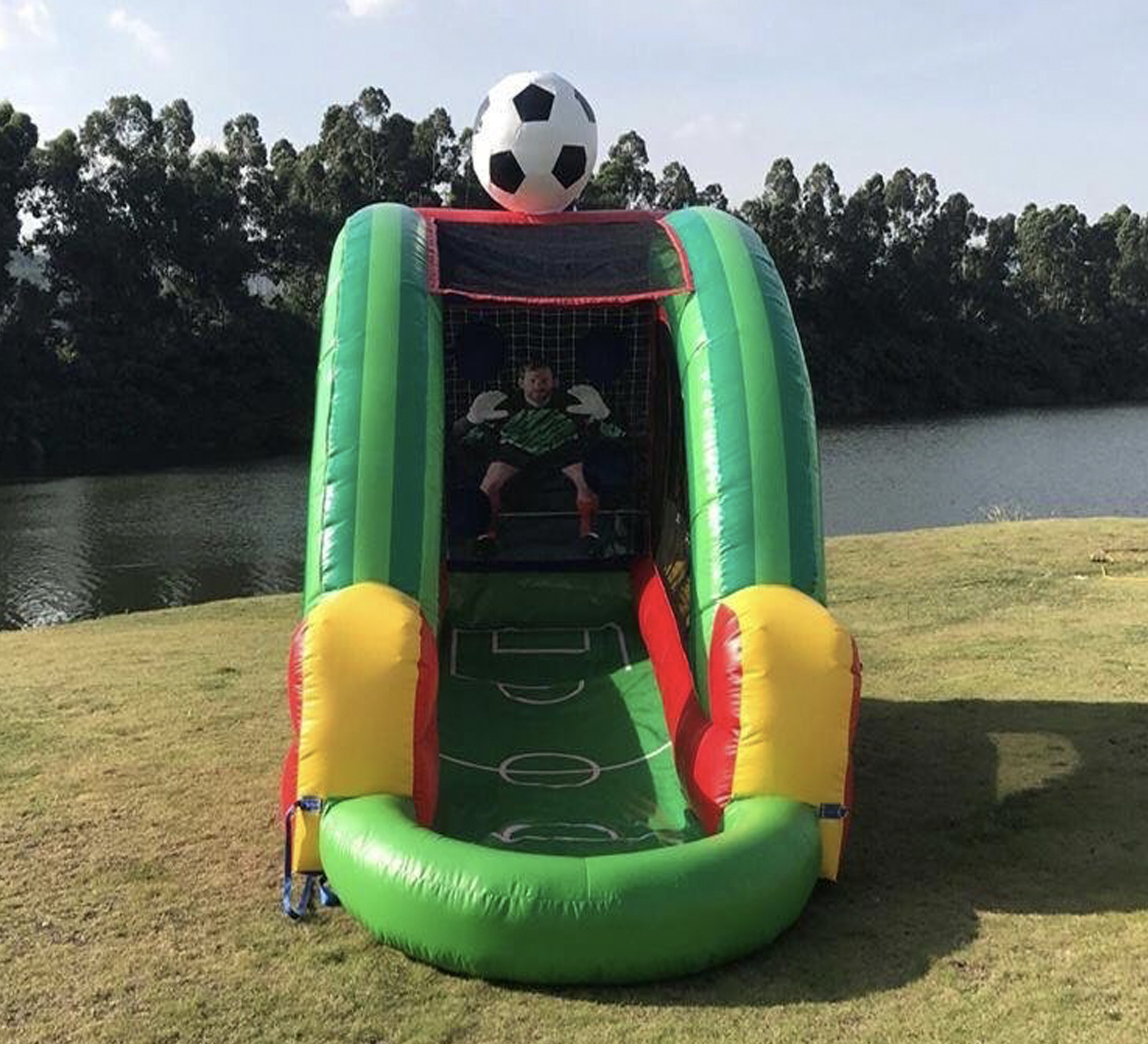 soccer inflatable game rental near me