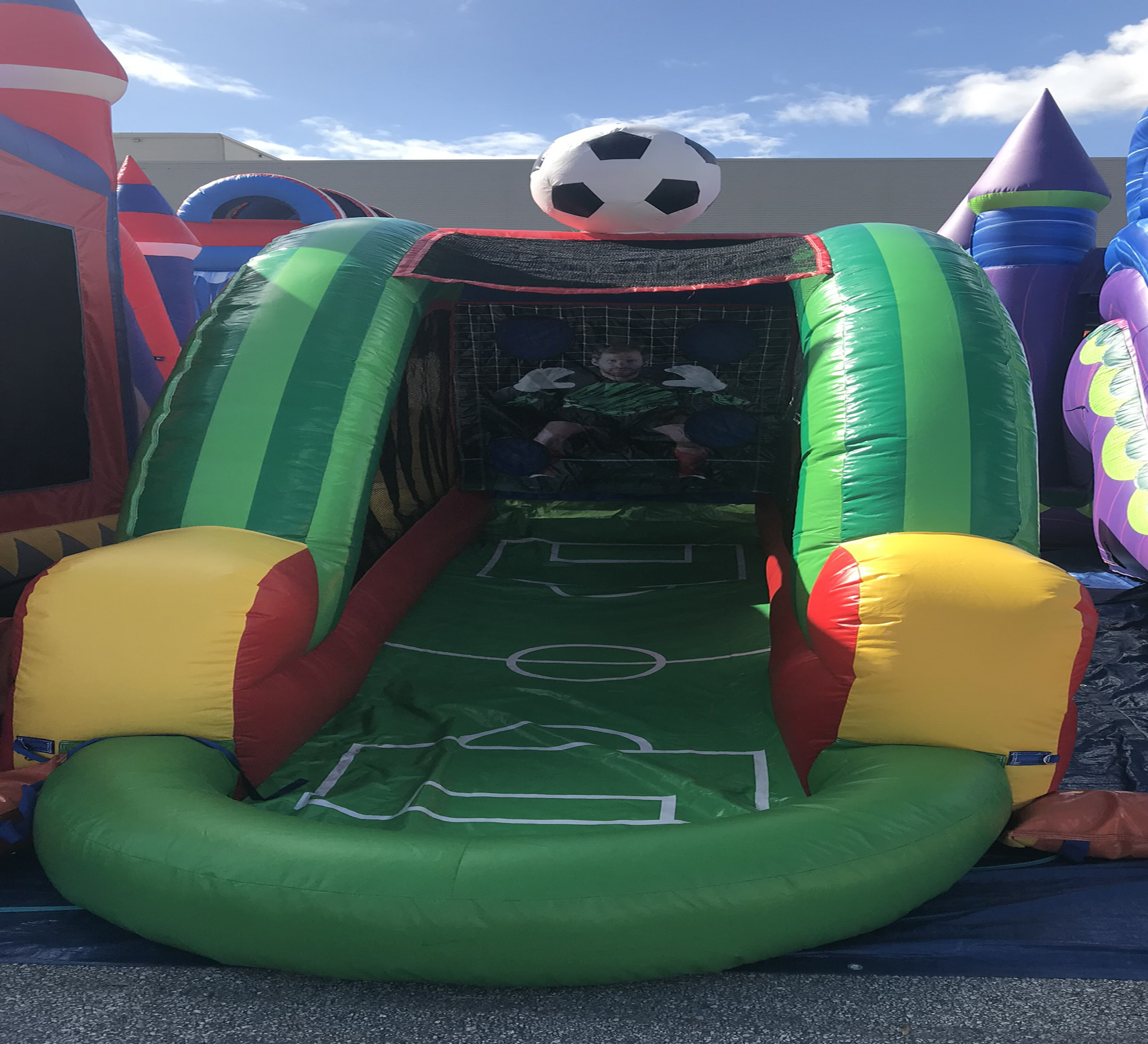 soccer inflatable game rental chattanooga