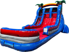 Baha Blast Dual Lane Inflatable Water Slide