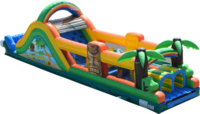 Tiki Island Water Obstacle Course Rental