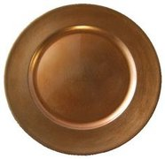 "13"" Copper Charger Plate"