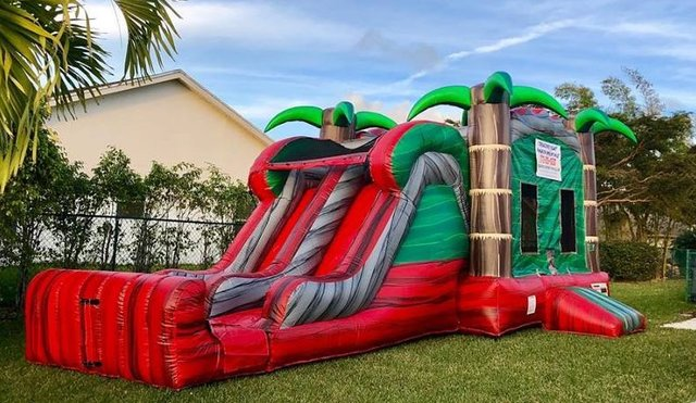 Ruby Crush Combo w/ Dual Lane Slide (Wet/Dry) 3-in-1 w/ Basketball Hoop