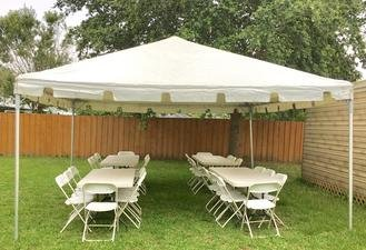 (Package #1) 15' x 15' Tent. (4) Tables, 24 Chairs