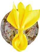 Napkin (Canary Yellow Crushed Taffeta-Polyester)