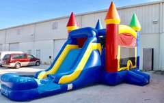 Super Castle Bounce House Slide Combo (Wet/Dry) 3-in-1 w/ Basketball Hoop