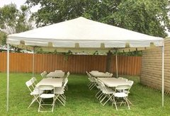 15' x 15' Tent. (4) Tables, 24 Chairs