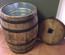 Rustic Whiskey Barrel / Drink Cooler