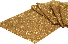 "Table Runner (12"" x 108"" Glitz Sequin-Gold)"