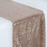 "Table Runner (12"" x 108"" Glitz Sequin-Rose Gold)"