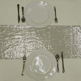 "Table Runner (12"" x 108"" Glitz Sequin-Silver)"