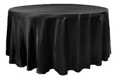 "48"" Round Table Linen (Black 108"")"