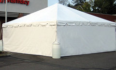 10' White Tent Sidewall