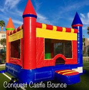Conquest Castle Bounce  2-in-1  w/ Basketball Hoop