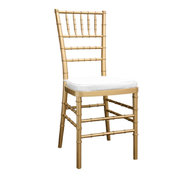 Gold Chivari Chair w/ White Cushion