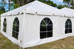 20' Cathedral Window Tent Sidewall